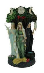 Polyresin Triple Goddess Maiden Mother And Crone Tree Statue