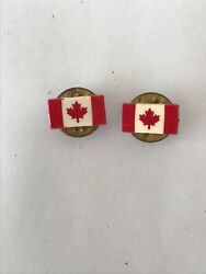 Red And White Small Canadian Canada Maple Leaf Flag Tie Lapel Pin Badge