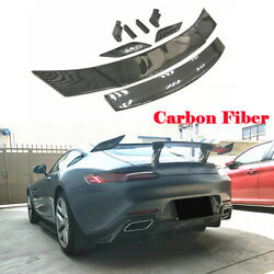 Rear Trunk Spoiler Racing Wing For Benz Amg Gt Coupe 15-18 Carbon Fiber Trim