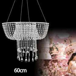Hanging Cake Chandelier Romantic Wedding Birthday Party Cake Stand Crystal Acryl