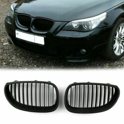 Front Replacement Matt Black Kidney Grille For Bmw E60 E61 5 Series 2003-2010 Us