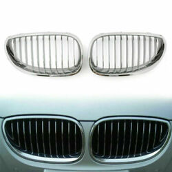 Front Replacement Chrome Kidney Grille For Bmw E60 E61 5 Series M5 2003-2009 Usa