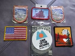 Lot Of 6 Patches Ice Field In Canadian Rockies Railway Museum Cave Of The Mounds