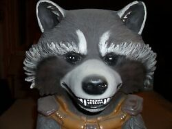 Vintage Marvel Studios Disney Store Rocket Racoon Life Size 2and039x1and039 Mannequin 2014