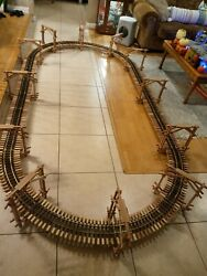 G Scale Train Lgb Track Trestle Ceiling Hanger Kit Lionel Bachman 12 X 6and039 Oval