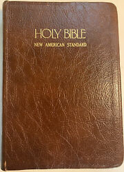 1977 Nasb Giant Print Reference Bible Brown Bonded Leather Nelson 537 Indexed