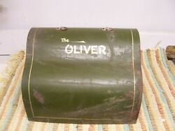 Vintage Oliver Typewriter Metal Cover Lid - Square 14 5/8th X 10 3/8th Free Ship