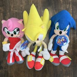 Sonic The Hedgehog Plush Toys Sonic X Sega Great Eastern Lot With Tags
