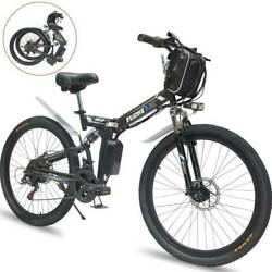 26 Foldable Electric Bicycle 48v 1000w City Mountain Bike Cycling Ebike 21speed