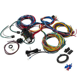 21 Circuit Wiring Harness Rod Universal Wire For Chevy Ford Jeep Rods