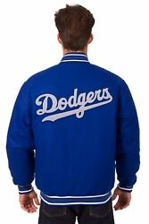 Mlb Los Angeles Dodgers Jh Design Wool Reversible Jacket Embroidered Patchs Logo