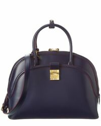 Mcm Anna Leather Tote Womenand039s Blue