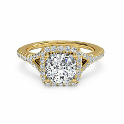 Sale 1.10 Ct Natural Solitaire Diamond Ring Solid 14k Gold Cushion Band Size N