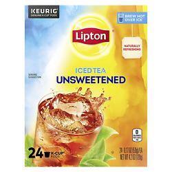 Lipton Iced Tea K-cup Pods For A Refreshing Beverage Unsweetened Black Tea Made