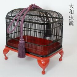 Japanese Insect Cage Bamboo Handicraft Height 10 Daimyo Tool Antique Makie Kago