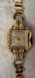 Ladies Vintage Bulova And Hampden Watches Gold Fill And Plated Case