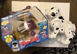 Vintage Poo-chi Robotic Toy Interactive Puppy With Bone And Tekno Dog