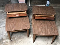 Lane Furniture Mid Century Modern End Tables 1038-07 Local Pick Up