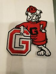 UGA University of Georgia Bulldogs Embroidered Iron On Patch 3.5X2.5quot;