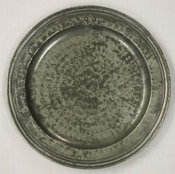 Charles Ii Pewter Triple Reeded Hammered Plate By Thomas Smith Circa 1680.