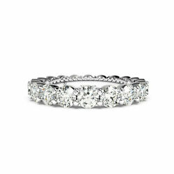 1.80 Carat Stunning Real Diamond Eternity Band Solid 14k White Gold Size 5 6 7 8