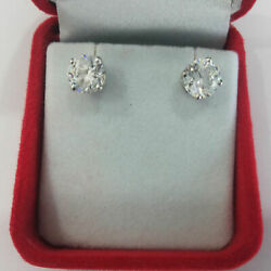 1.00 Carat Real Diamond Solitaire Earrings 950 Platinum Womenand039s Engagement Studs
