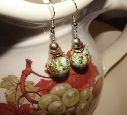 Handcrafted Murano Lampwork Earrings With 24 Karat Gold Foil