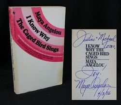 Maya Angelou I Know Why The Caged Bird Sings 1980 Signed Rare