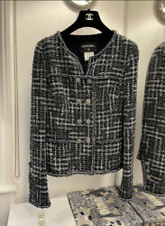 Midnight Blue Tweed Double Breasted Jacket M . New Without Tags. Size 38