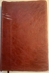 1977 Nasb The Open Bible Expanded Edition Burgundy Genuine Leather