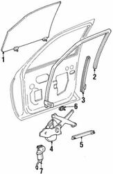 Oem New 91-02 Ford Lincoln Continental Contour Window Regulator F5oy-5423209-a