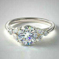 0.20 Carat Semi Montage Fianandccedilailles Diamant Solid 950 Platine Bague Taille M N O