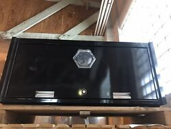 """New Black 56"""" Matco 4s Tool Box Top Hutch With Usb Outlet And Light Wow"""