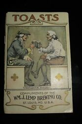 Antique 1901 Toasts Booklet - Lemp Beer Brewing Co. St. Louis Mo