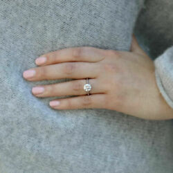 1.00 Carat Certified Real Diamond Solitaire 14kt Solid White Gold Womenand039s Rings