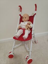 Vintage Bitty Baby Doll And Red Stroller Pleasant Company