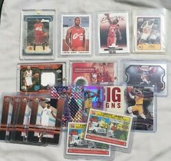 Lebron James Rookie Jersey Prizm Parallel Lot All Cards Pictured