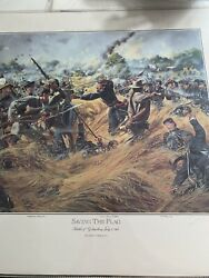 Don Troiani - Saving The Flag -hand Signed - Collectible Civil War Print Mint