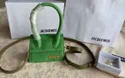 JACQUEMUS Le Chiquito Clutch Leather Mini bag Green Brand New $349.99