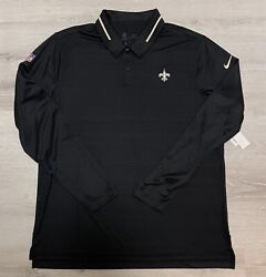 New Nike New Orleans Saints Team Issue Uv Polo Golf Shirt Men's Extra Large Xl