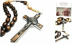 Made In Italy Rosary Blessed By Pope Francis Vatican Rome Holy Father Brown