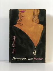 Ian Fleming Andndash Diamonds Are Forever Andndash 1st Uk Edition - 1956 - Price Unclipped