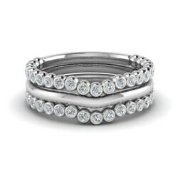 Best Deal Solid 950 Platinum 0.66 Ct Real Diamond Wedding Band Set Size 5 8 6 9