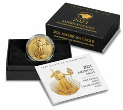 American Eagle 2021 One Ounce Gold Uncirculated Coin Confirmed Order Limited