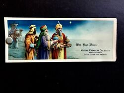1926 Christmas 3 Wise Men And Gifts Celluloid Cover 3 Blotter Mutual Creamery