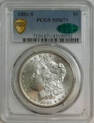 1881-s Morgan Silver Dollar Ms67+ Secure Pcgs Cac 944565-14