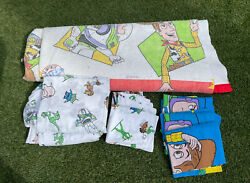 Vintage 1995 Toy Story Twin Bedding Sheet Set Pillowcases Comforter
