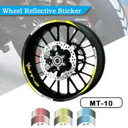 Strips Motorcycle Wheel Tire Stickers Reflective Rim Tape For Yamaha Mt10 Fz10