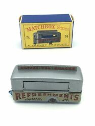 Matchbox 74a Mobile Refreshments Canteen Spw In Original Box Printed By Bowaters