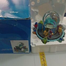 Disney Store Monsters Inc. Musical Snow Globe Dome With Mike Sully Boo Music Box
